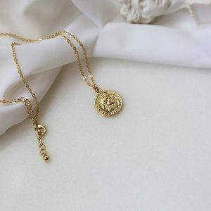 Gold coin necklace 10K gold plated